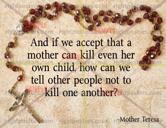 Mother Teresa Pro Life Quotes. QuotesGram