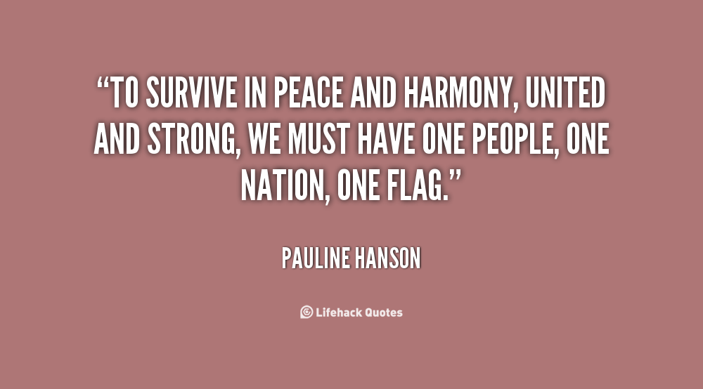 Peace And Harmony Quotes Quotesgram