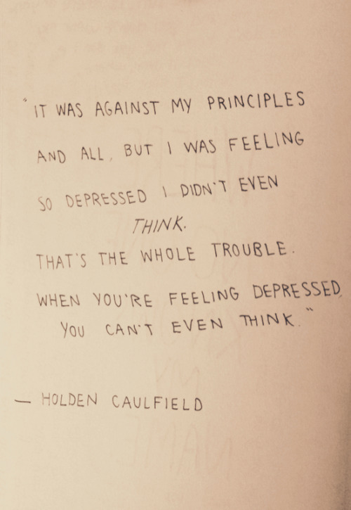 how does holden caulfield see himself