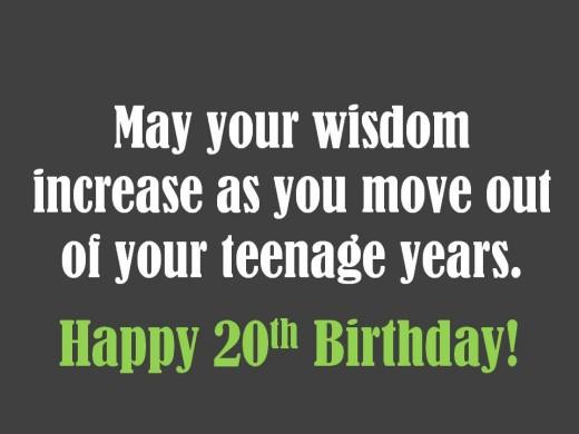 20th Birthday Quotes Quotesgram