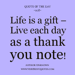 Thank You Quotes For Gifts Received. QuotesGram