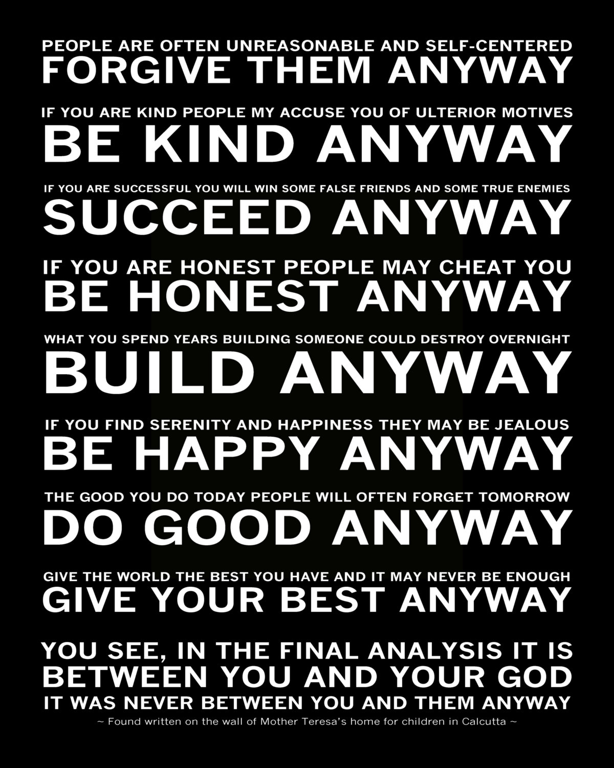 Do It Any Way Mother Teresa Quotes Quotesgram