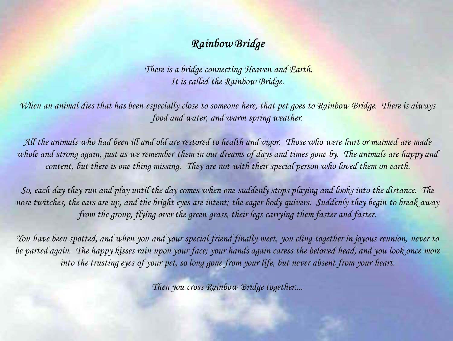 rainbow poems and quotes quotesgram