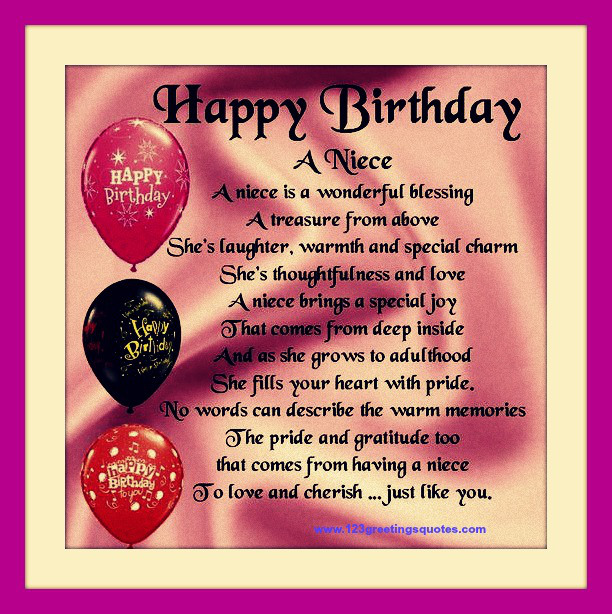 Happy Birthday Niece Quotes. QuotesGram