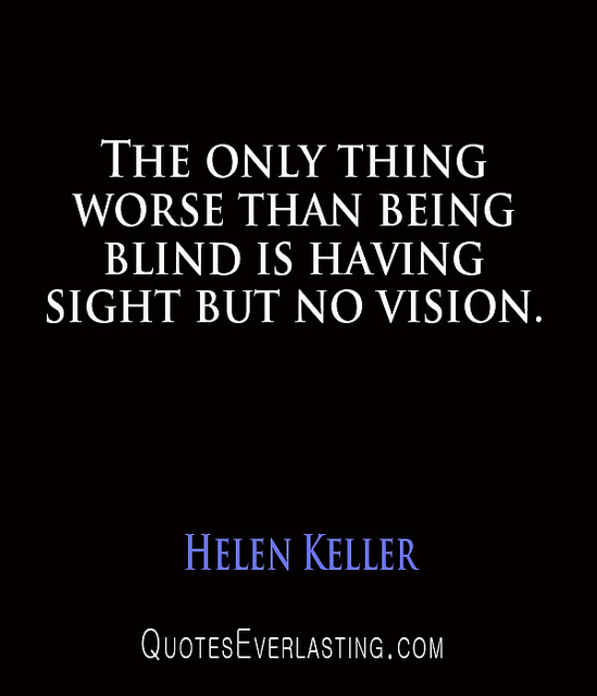 Images About Blind Men Quotes: Helen Keller Quotes About Sight. QuotesGram