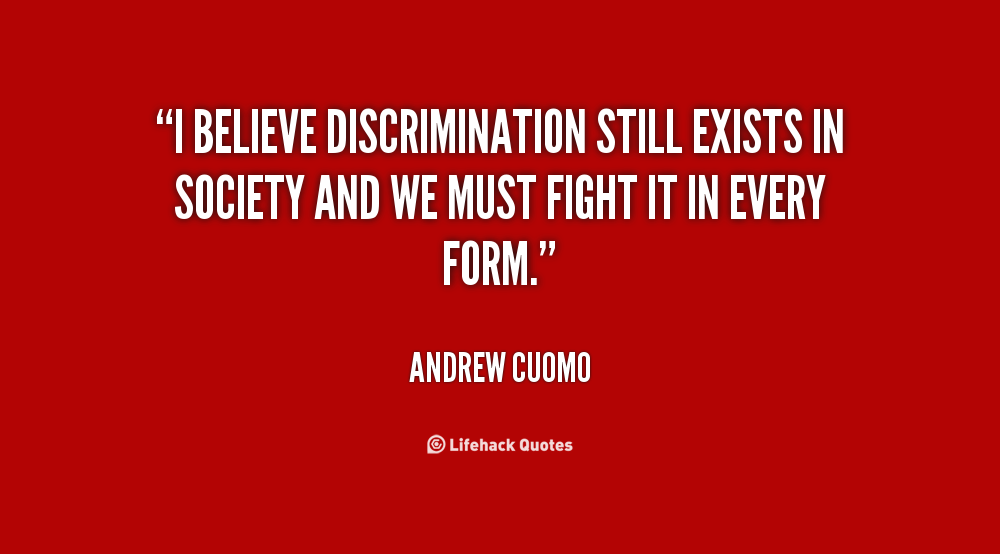 discrimination still exist So why is there still discrimination the disparity or indication of discrimination still exists we do nothing to address the problem – discrimination.