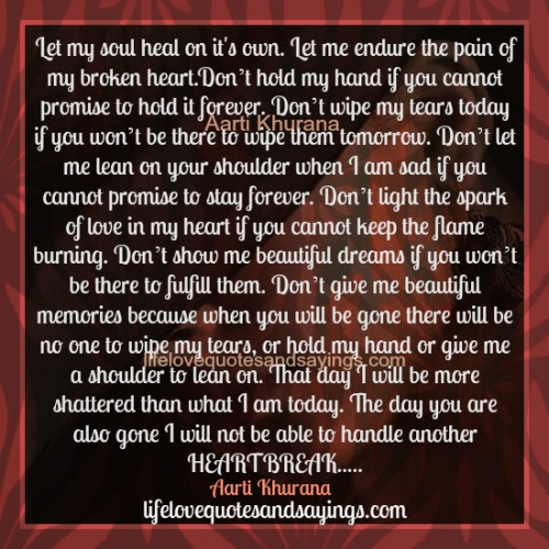Advise how to heal a broken heart quotes share your