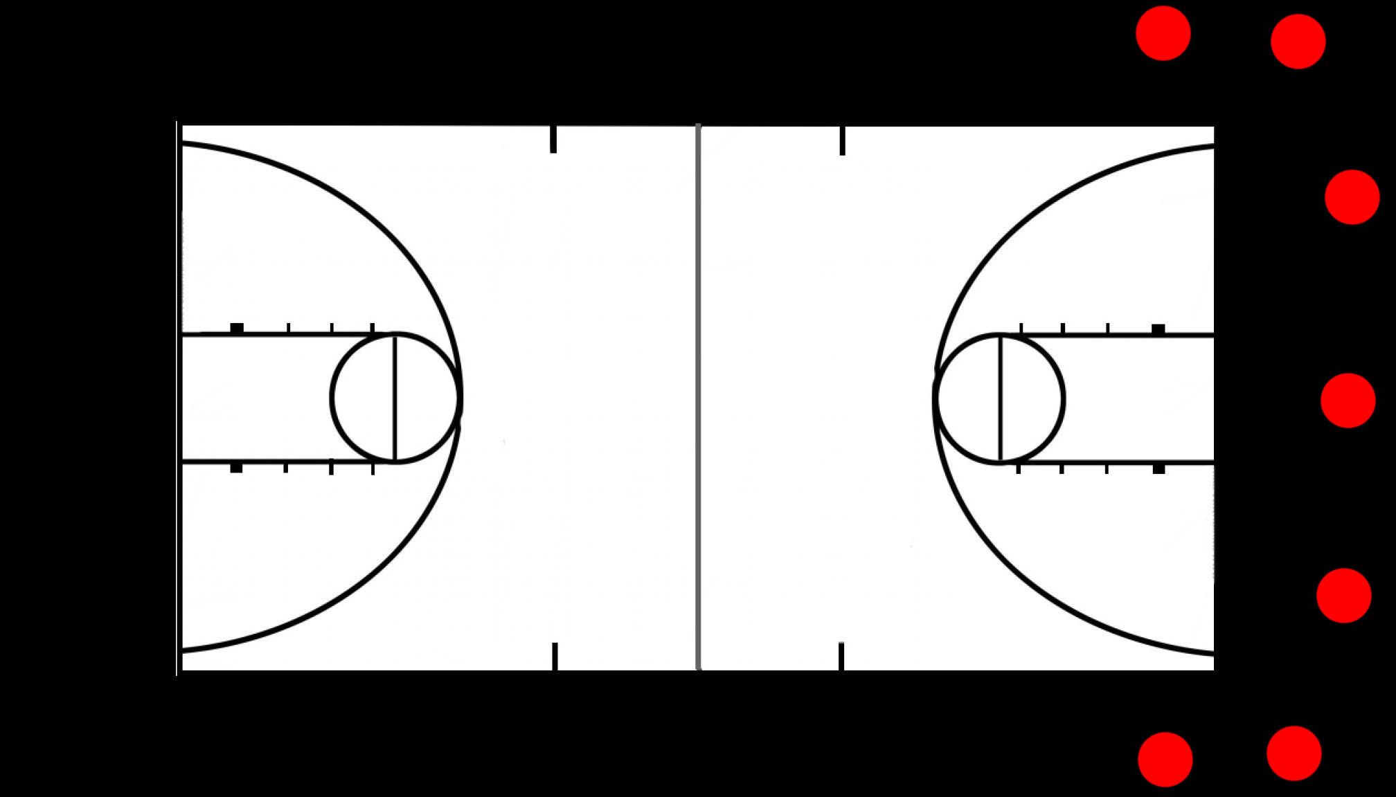 Basketball Court Diagrams Related Keywords & Suggestions - Basketball ...