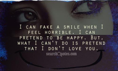 Fake pretend quotes