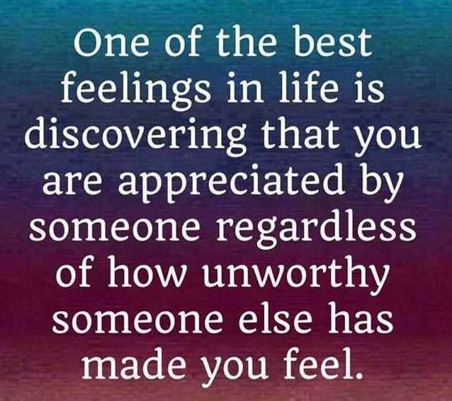 Quotes About Feeling Appreciated. QuotesGram