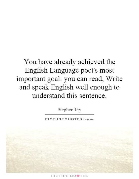 Quotes About English Language Importance Quotesgram