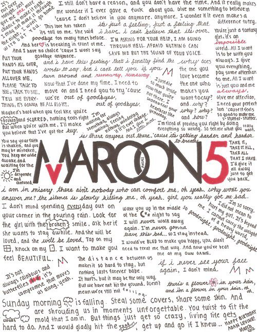 Song Quotes Maroon 5 Animals Quotesgram