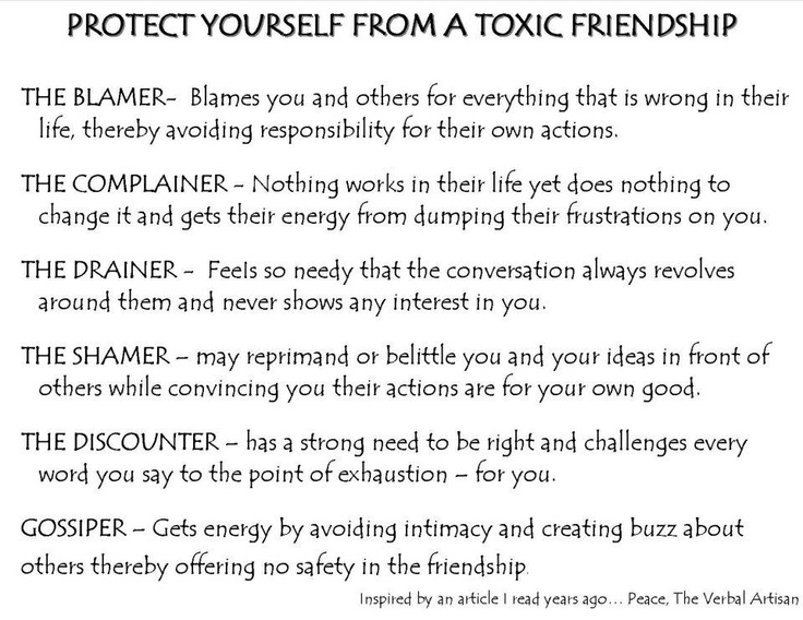 Symptoms toxic friendship 5 Toxic