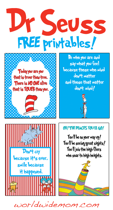 Delicate image pertaining to dr seuss printable quotes