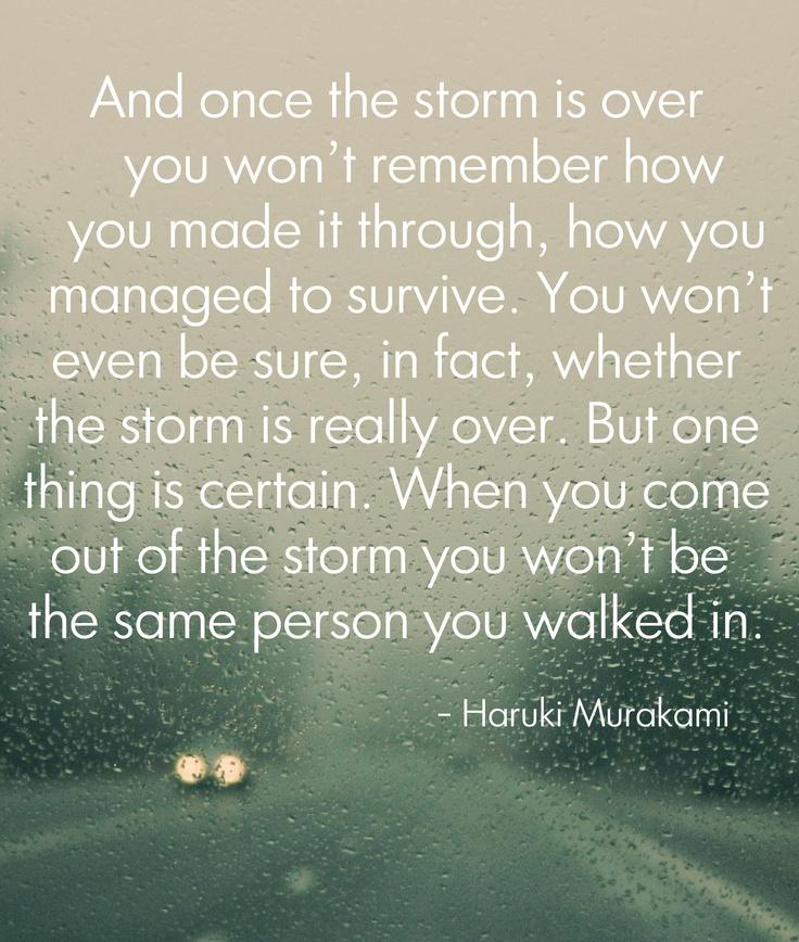 Inspirational Survival Quotes: Surviving The Storm Quotes. QuotesGram