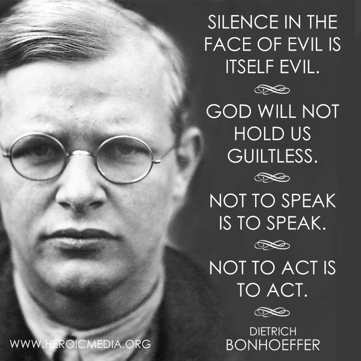 Quotes About Anger And Rage: Dietrich Bonhoeffer Quotes Silence. QuotesGram