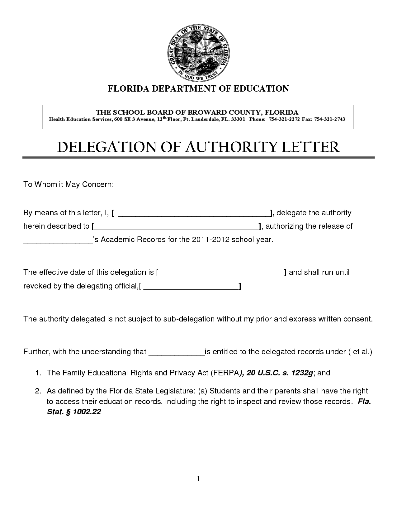Quotes Delegation Of Authority QuotesGram – Delegation Letter