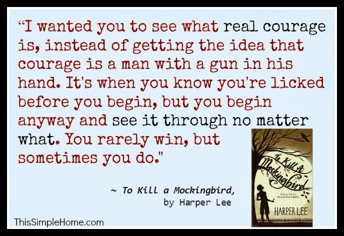 thesis on courage in to kill a mockingbird Freshman english i – to kill a mockingbird essay – directions: write a 4-6 page (1000-1500+ word) essay, typed and double-spaced, on one of the following topics dealing with harper lee's novel, to kill a mockingbird (1960.