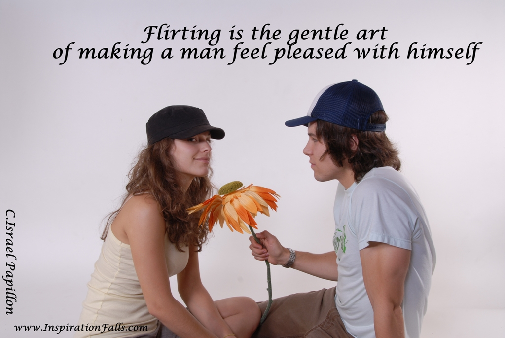 The the art of flirting with a man