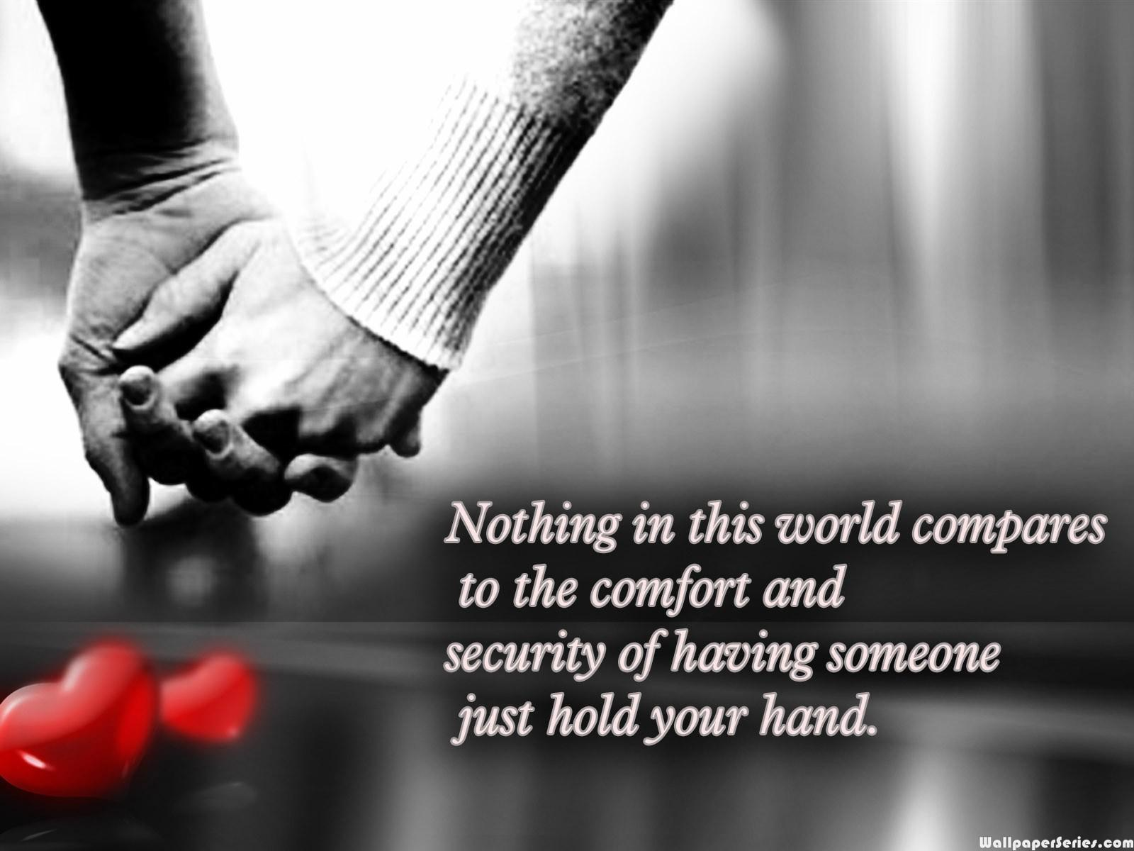Quotes About Love Holding Hands. QuotesGram