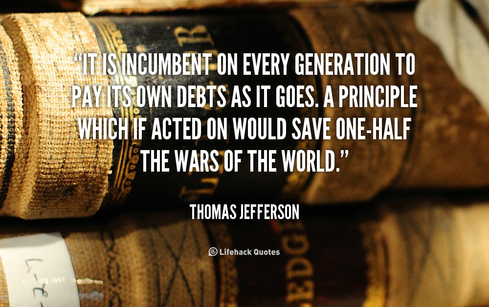 Quotes About Paying Your Debts. QuotesGram