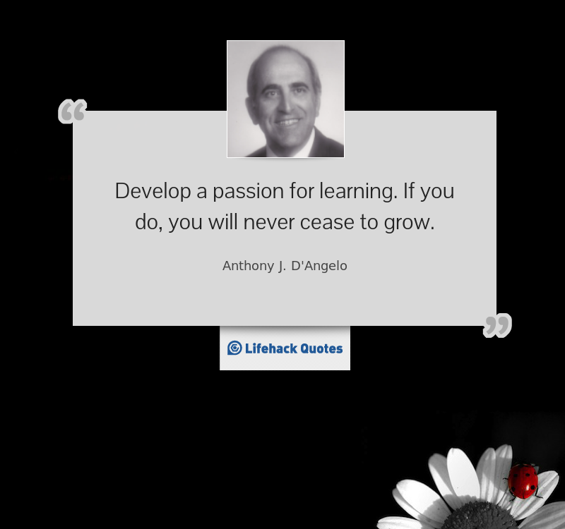 passion meant for learning