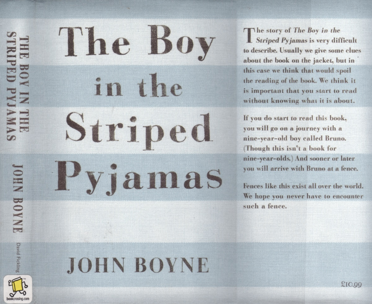 boy in striped pyjamas essay quotes The boy in the striped pajamas theme analysis essay sample several themes are portrayed throughout the boy in the striped pajamas by author, john boyne.