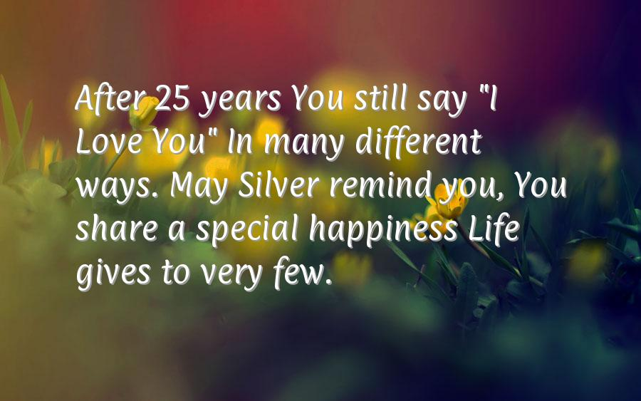 Silver Anniversary Quotes Quotesgram