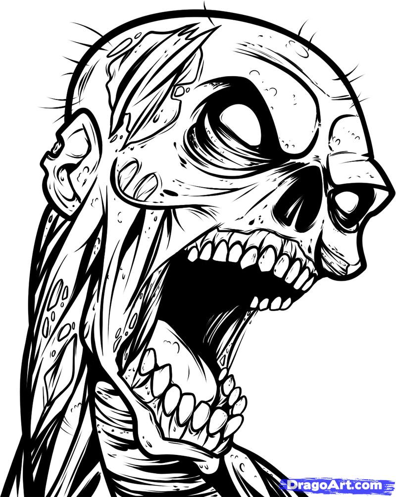 Quotes Drawing Skull