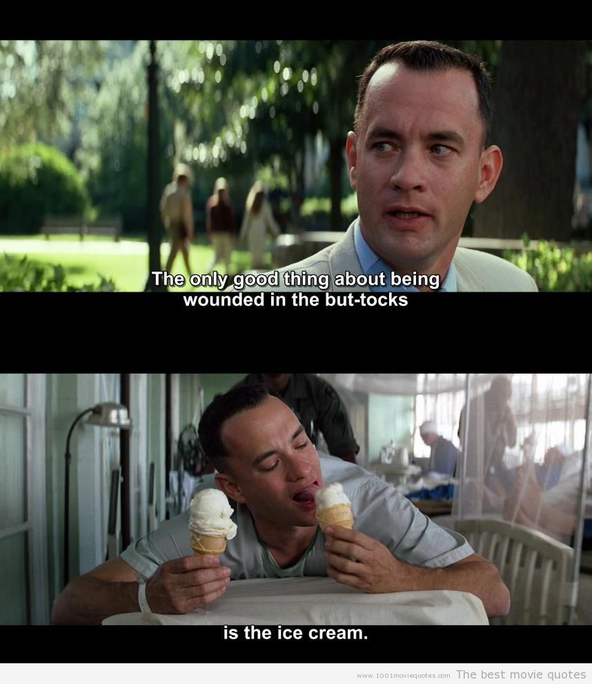 forest gump So, forrest gump dies and goes to heaven to meet his maker, just like we all will  one  the gates are closed, however, and forest approaches the gatekeeper.