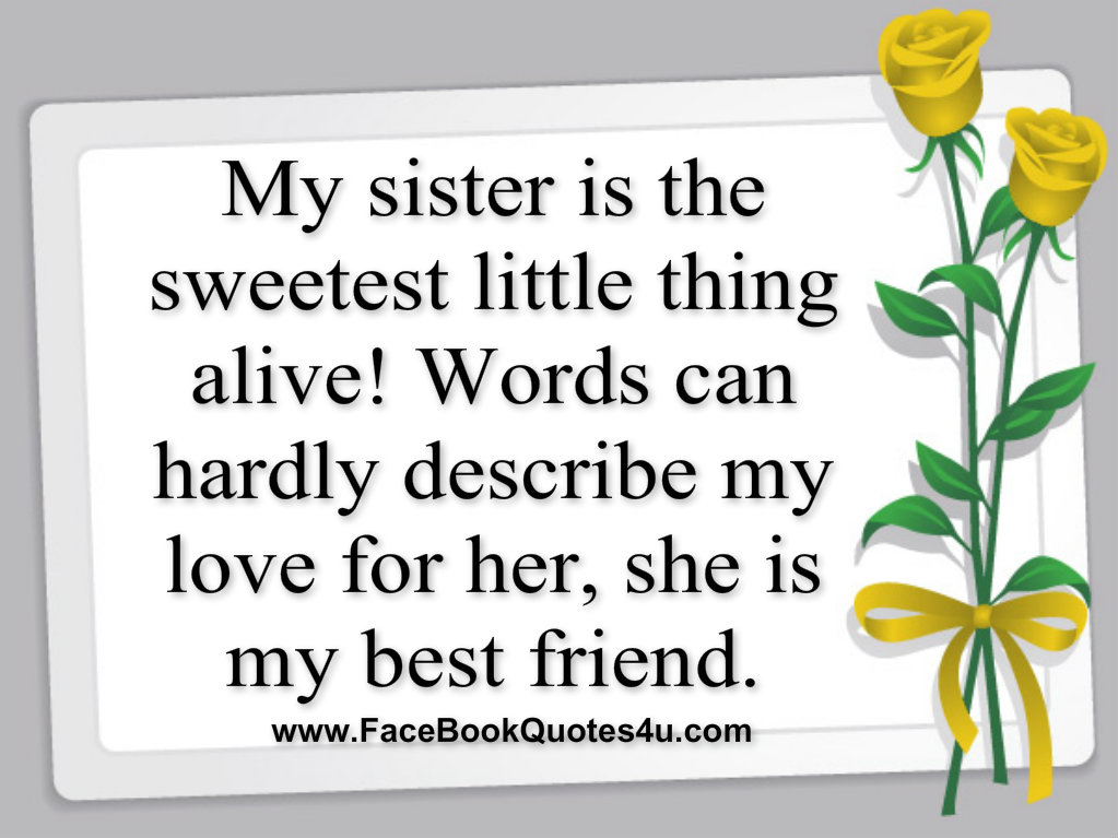Sister Quotes: Little Sister Quotes For Facebook. QuotesGram