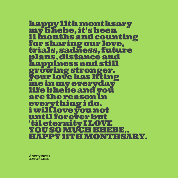 Monthsary Quotes For Boyfriend. QuotesGram