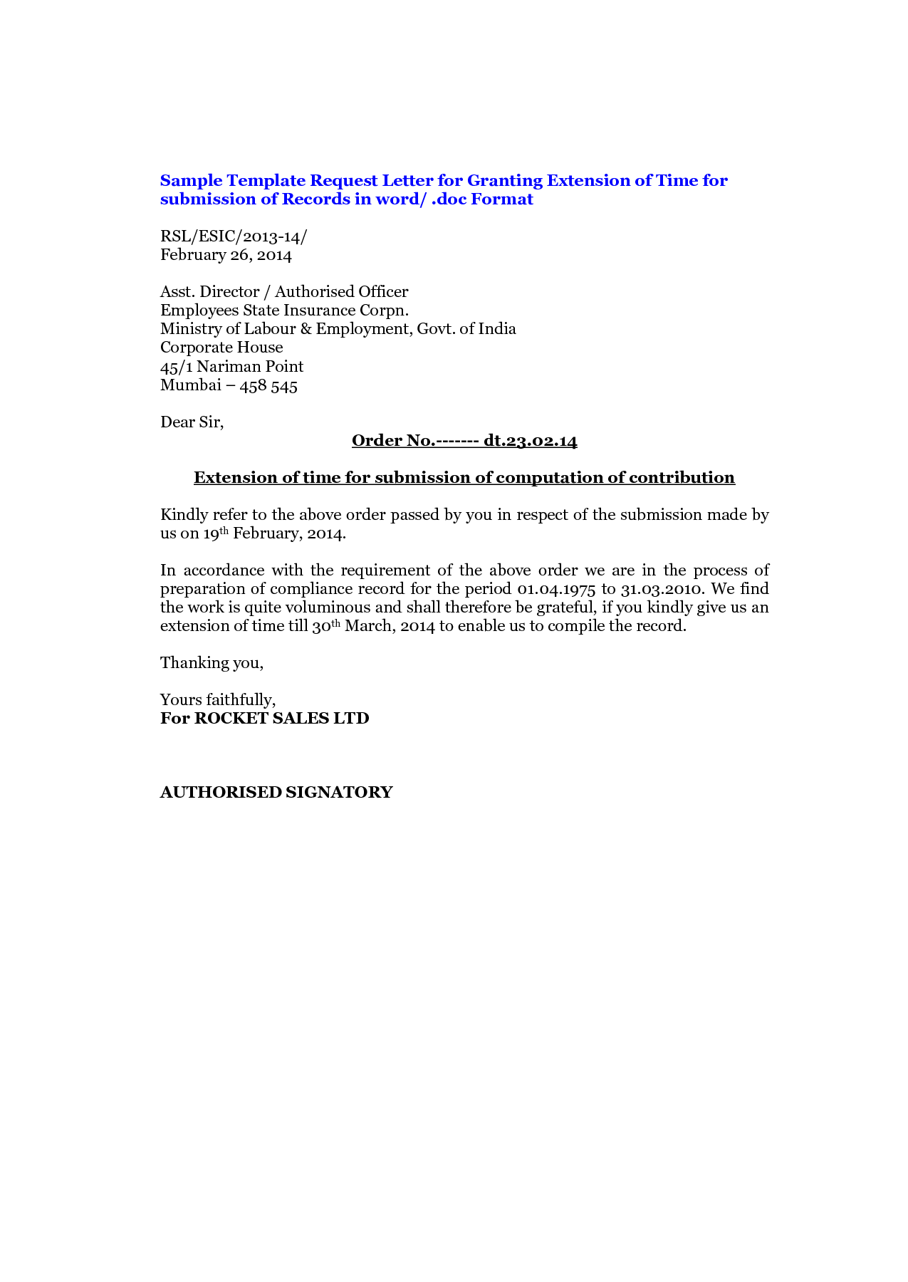 Dissertation extension request letter