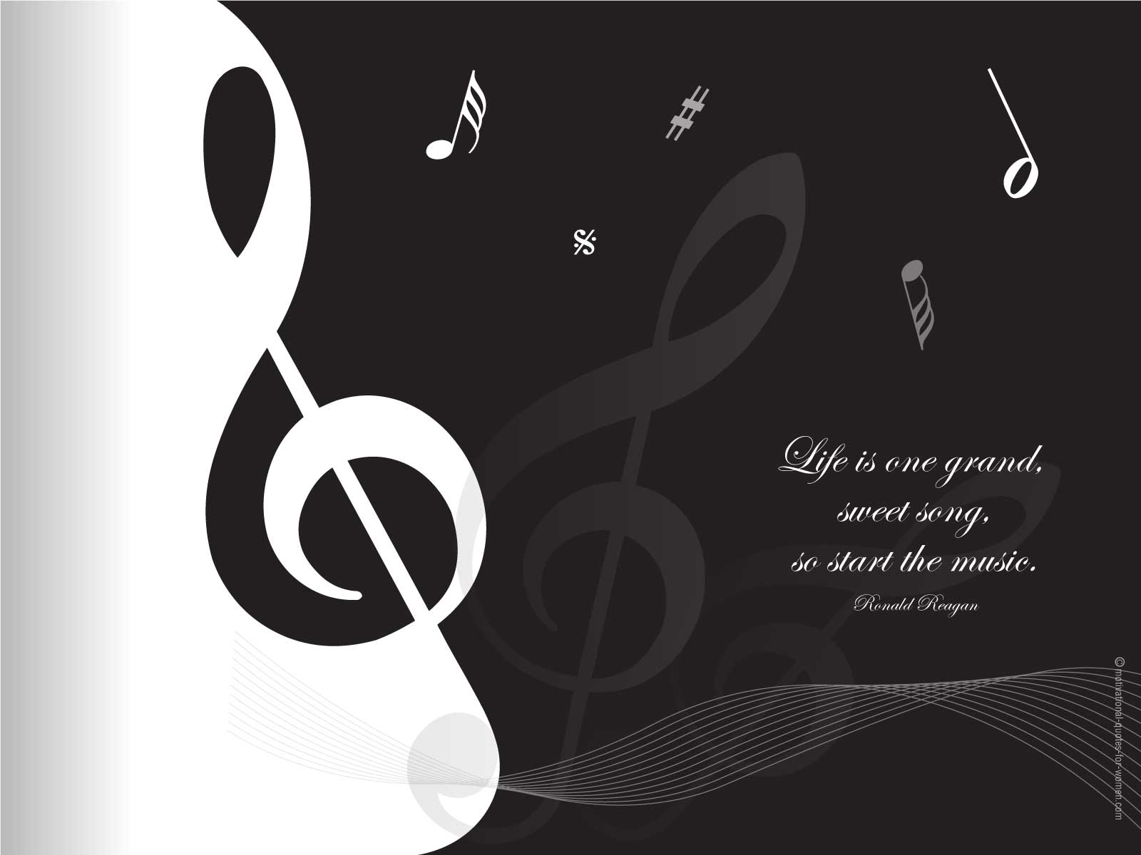 Musical Inspirational Quotes Wallpaper Quotesgram
