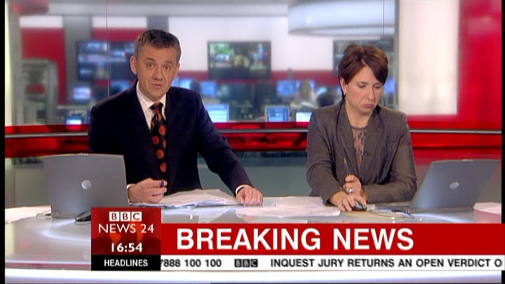 a look at a news report on the tv today