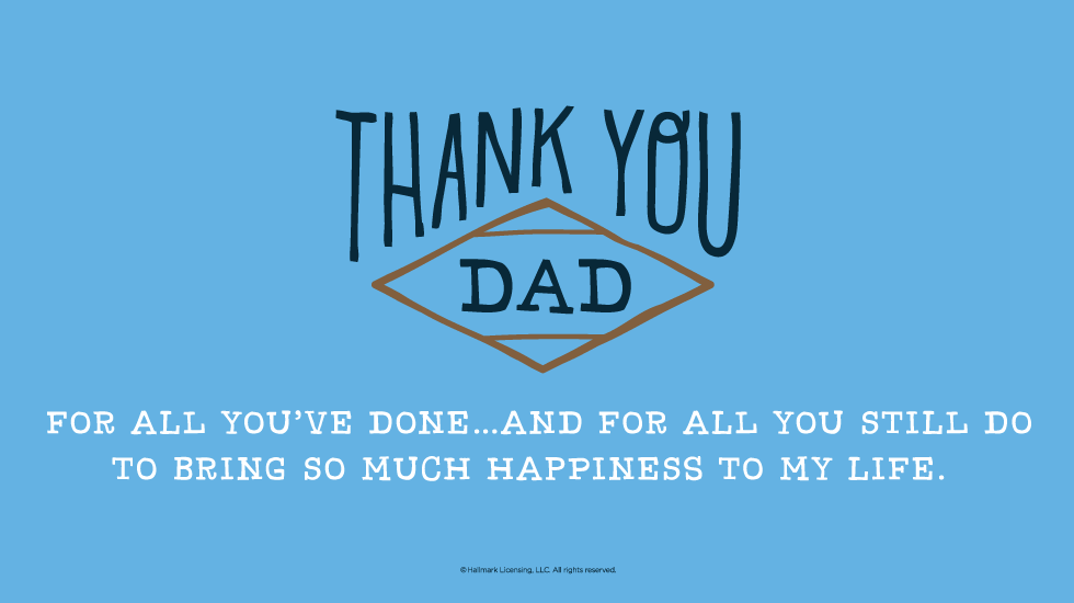 Short Thank You Letter For Dad