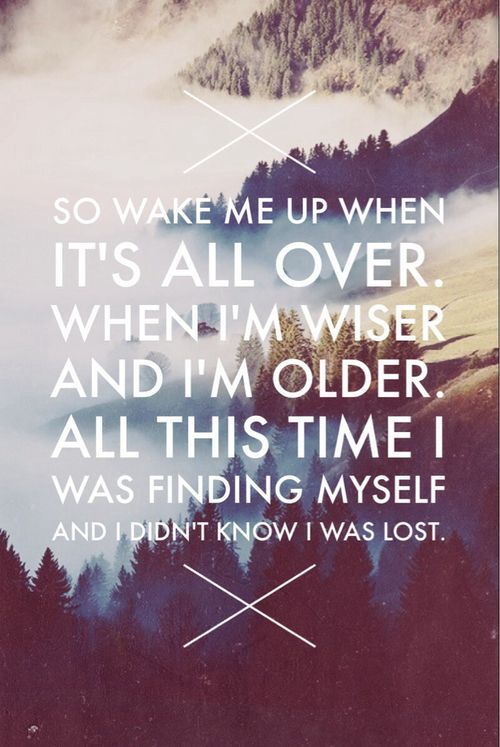 Avicii wake me up with lyrics