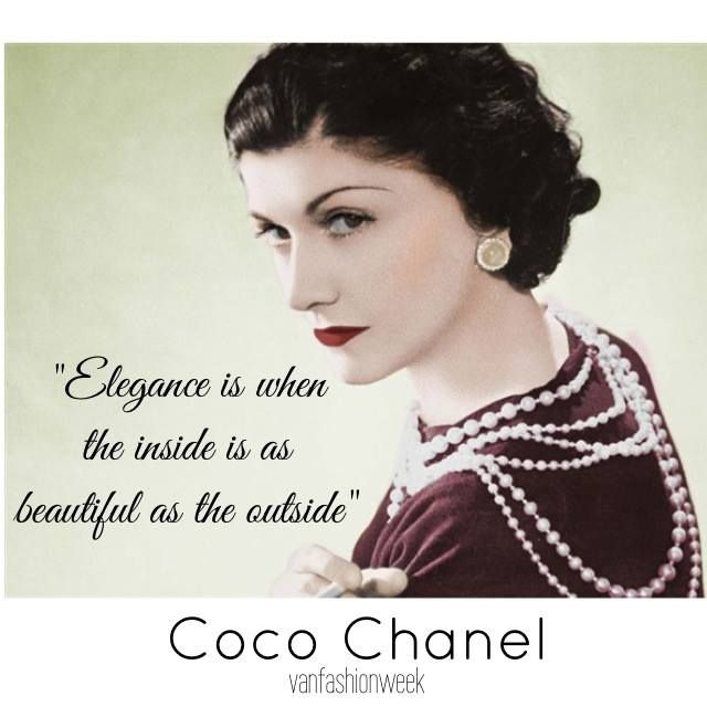 Coco Chanel Famous Quotes: Coco Chanel Fashion Quotes. QuotesGram