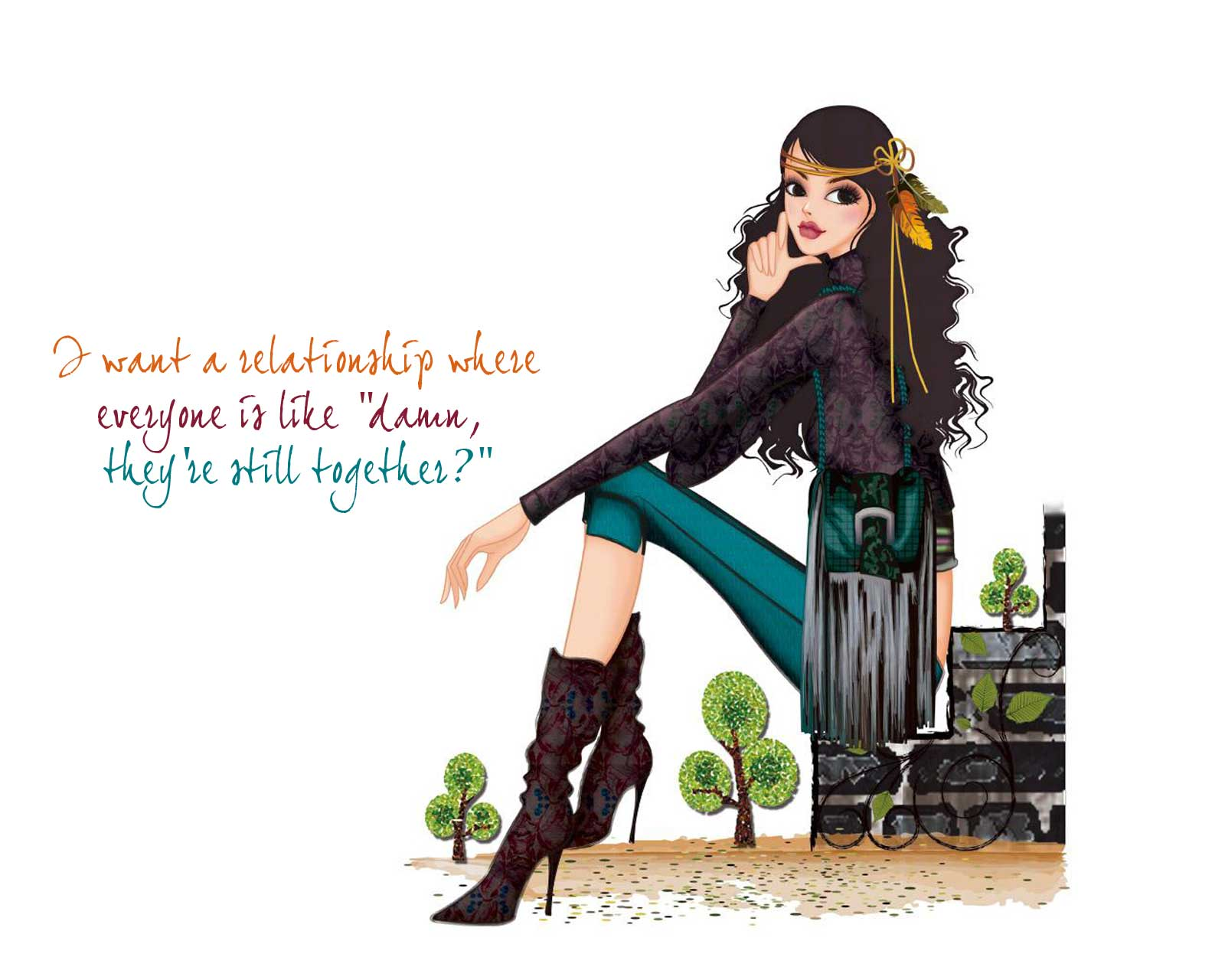 wallpaper of quotes on girls - photo #27