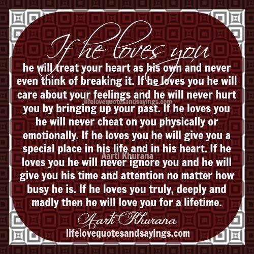 how to know if he truly loves you