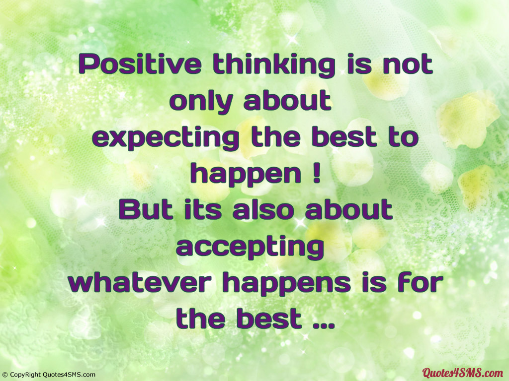 Positive Thinking Quotes Wallpaper Quotesgram