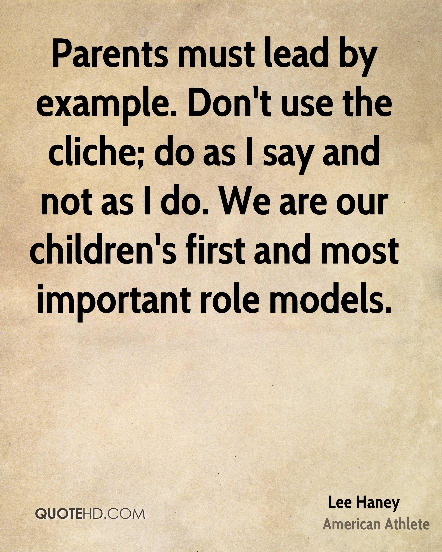 Model Quotes: Parents As Role Models Quotes. QuotesGram
