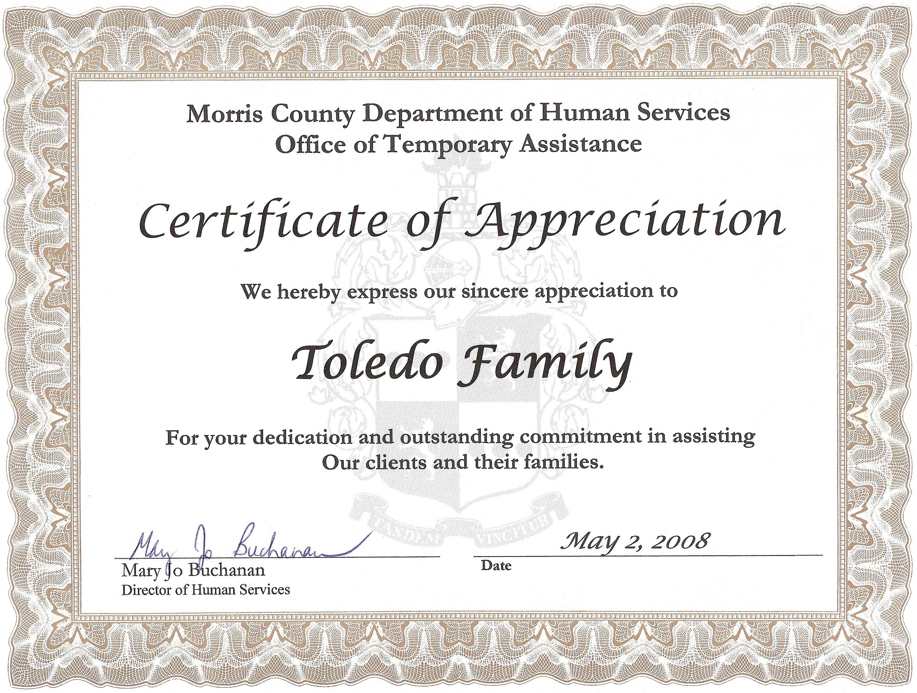 Certificate Of Appreciation Quotes. QuotesGram