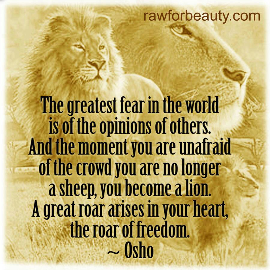 Osho Quotes On Lion. QuotesGram