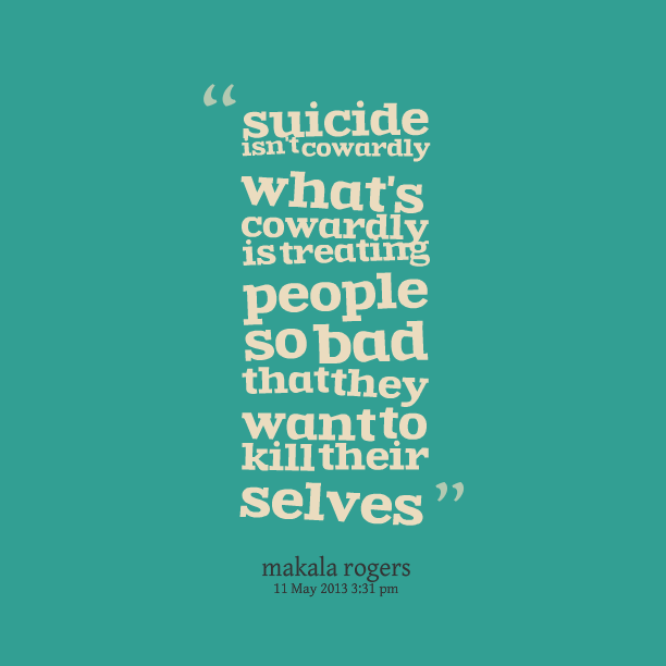 Quotes For Suicidal People Quotesgram