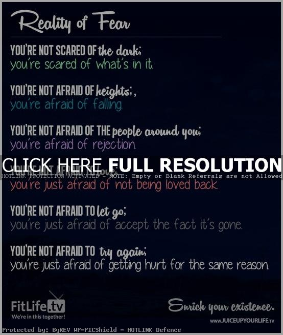 Famous Quotes About Fear: Best Quotes About Fear. QuotesGram