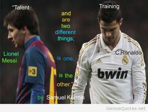Quotes About Messi Cristiano Ronaldo. QuotesGram