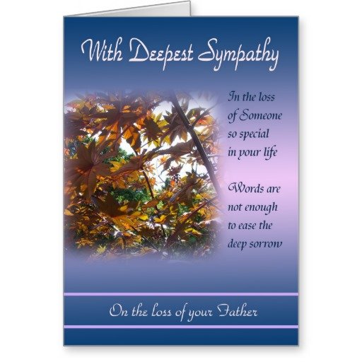 Sympathy Quotes For Loss Of Husband And Father: Sympathy For Loss Of Father Quotes. QuotesGram