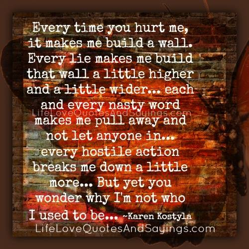 You Hurt Me Quotes  Quotesgram