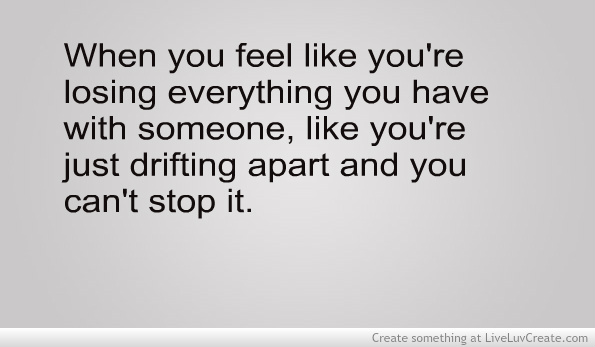 How to stop drifting apart in a relationship